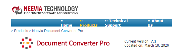 neevia pdf converter